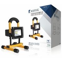 Projecteur led mobile 10W Konig KNLEDFLMB10W