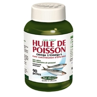 Huile de Poisson EPA DHA 90 capsules Omega 3 et 6 Api nature