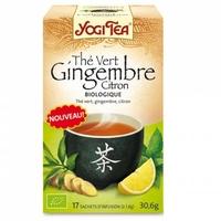thé vert gingembre citron
