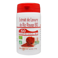 Extrait de Levure de Riz Rouge Bio e 1,6 % de monacoline 600 mg 60 comprimes