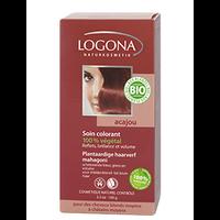 Logona - Soin colorant végétal acajou, 100 g