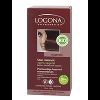 Logona - Soin colorant végétal marron, 100 g