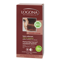 Logona - Soin colorant végétal noisette cuivré, 100 g