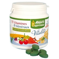 Abbaye de Sept-Fons - Vitalité (11 vitamines & 9 minéraux d'origine naturelle) - 120 comprimés