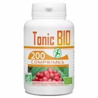 Tonic Bio - 400mg - 200 comprimés (Ginseng, Ginkgo et Echinacea)