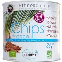 Ecoidees - Chips de coco BIO TORRÉFIE - boite de 90 g