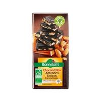 Chocolat noir amandes entieres caramelisees BIO 200 G Chocolats en Tablettes