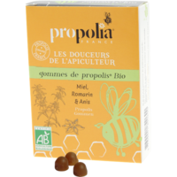 Gommes de propolis romarin, citron & anis BIO - sachet 45 g