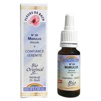Biofloral - Mimule (Mimulus) Bio - 20 ml - Elixirs Floraux du Docteur Bach