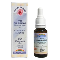 Biofloral - Marronnier rouge (Red Chestnut) Bio- 20 ml - Elixirs Floraux du Docteur Bach