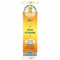 Biofloral - Ecole et devoirs enfant granules BIO - 10 g - Elixirs Floraux du Docteur Bach
