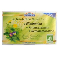 Biofloral - Infusion Elixir Elimination, Amincissement sans alcool BIO - 20 sachets