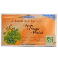 Biofloral - Infusion Elixir Force, Energie sans alcool BIO - 20 sachets