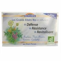 Biofloral - Infusion Elixir Défense, Résistance sans alcool BIO - 20 sachets