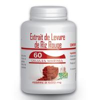 Levure de Riz Rouge 1,6% - 60 gelules 600 mg