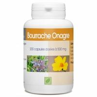 Bourrache Onagre - 200 capsules Vitamine e 500 mg