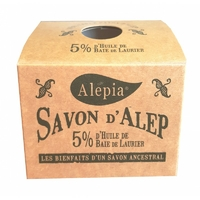 savon d'alep 5% laurier  boîte kraft SYRIE 190g