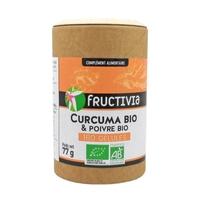 Curcuma & Poivre bio Fructivia 180 gélules
