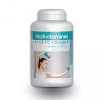 Multivitamines A + D3 + C + Groupe B 200 gelules