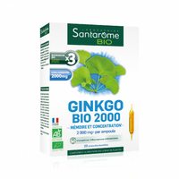 Ginkgo Bio 2000 Mémoire et concentration¹ - 20 ampoules