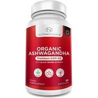 Ashwagandha 500mg extrait standardisé 60 gélules avec poivre Noir; ginseng indien; whitania somnifera