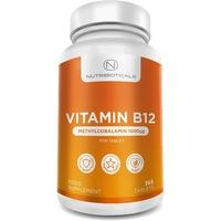 Vitamine B12 Méthylcobalamine 1000mcg 365 Comprimés (12 mois de cure) | Réduction de la fatigue et de l'épuisement du fonctionnement normal du système immunitaire