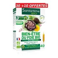 Santarome Bio Bien-Être du Foie Bio 40 Ampoules
