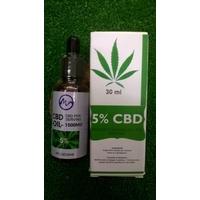 Huile CBD 5% 30 ml - full spectrum avec pipette