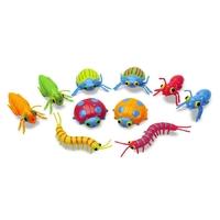 Sac de 10 insectes colorés