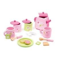 Service à thé, rose  en bois de marque LEGLER Référence: 2849