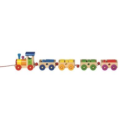 Train en Bois Philadelphia 18 briques colorées 60cm de long