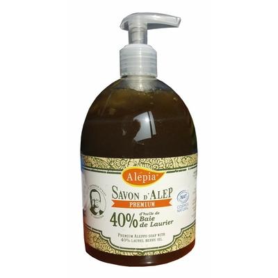 savon d'alep liquide premium 40% laurier 500ml