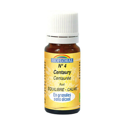 Biofloral - Centaurée granules (Centaury)  BIO - 10 g - Elixirs Floraux du Docteur Bach