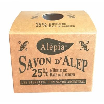 savon d'alep 25% laurier  boîte kraft SYRIE  190g