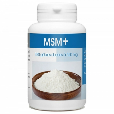 Méthylsulfonylméthane - MSM+ - 180 Gélules