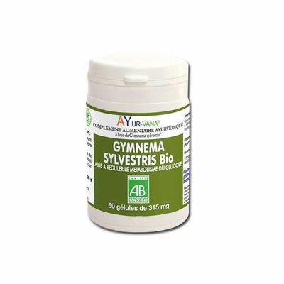 Ayur-vana - Gymnema sylvestris BIO - Flacon de 60 gélules végétales