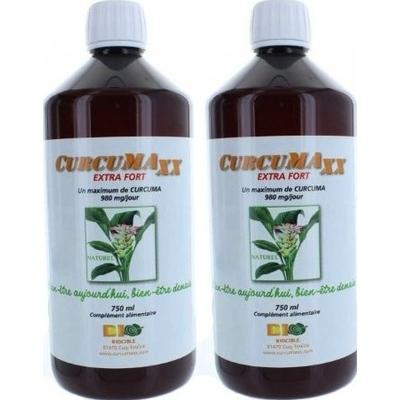 CURCUMAXx 2x750 ml - jus de Curcuma dont 95% de curcumine - curcumax