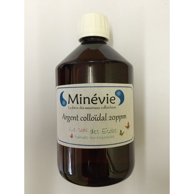 Argent colloidal 20 ppm 500 ml