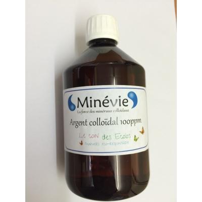 Argent colloïdal 100ppm - 500 ml Fabriqué en FRANCE