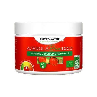 Acérola Bio 1000 pot familial - 60 comprimés
