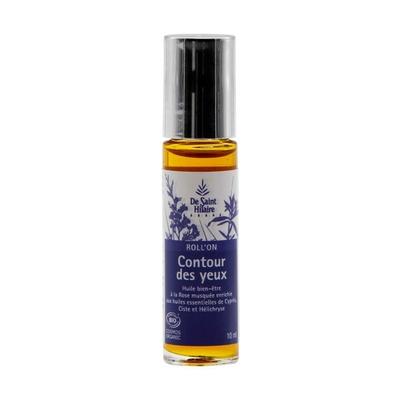 ROLL'ON CONTOUR DES YEUX 10ML BIO huiles essentielles de Cyprès, Ciste et Hélichryse enrichies d?huile de Rose Musquée.