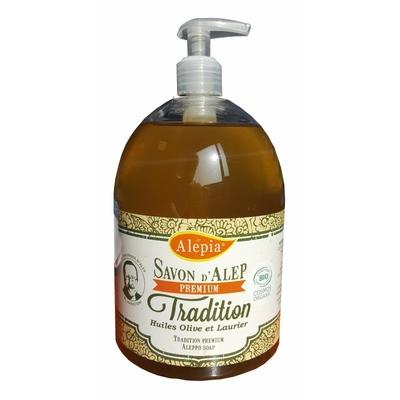 savon d'alep liquide premium organic 1% BIO 500ml