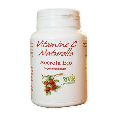 Acerola pure bio (poudre) 50 g