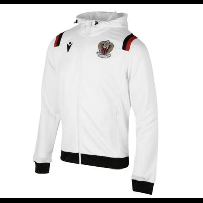 Veste à capuche OGC Nice blanche 2020/21
