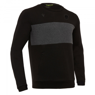 ATHLEISURE SWEAT COL ROND NOIR