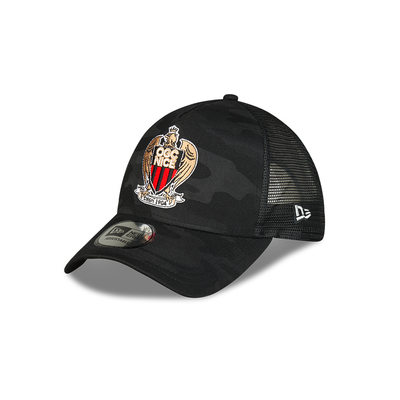 CASQUETTE OGC NICE NEW ERA TRUCKER BLACK CAMO