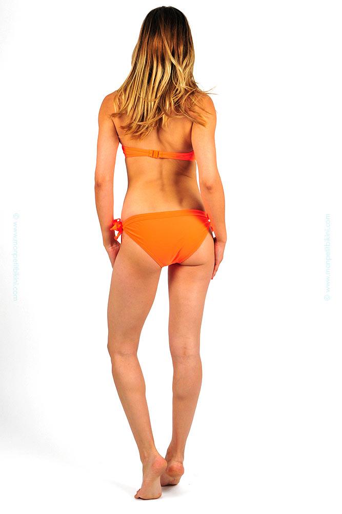 bandeau bikini mit v ausschnitt