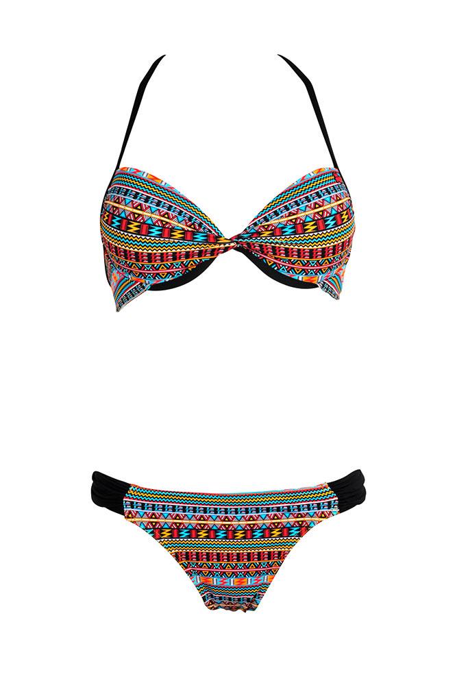 damen bikini ethno look 2016 push up bikini pikes peak g nstig. Black Bedroom Furniture Sets. Home Design Ideas