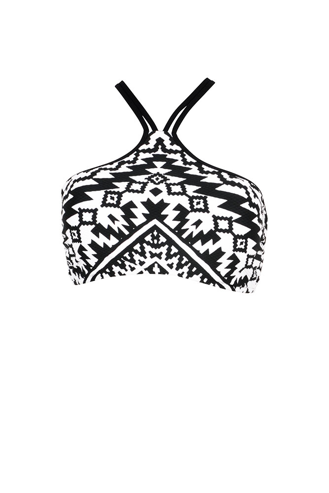 bustier kashbah seafolly bikini crop top schwarz wei. Black Bedroom Furniture Sets. Home Design Ideas