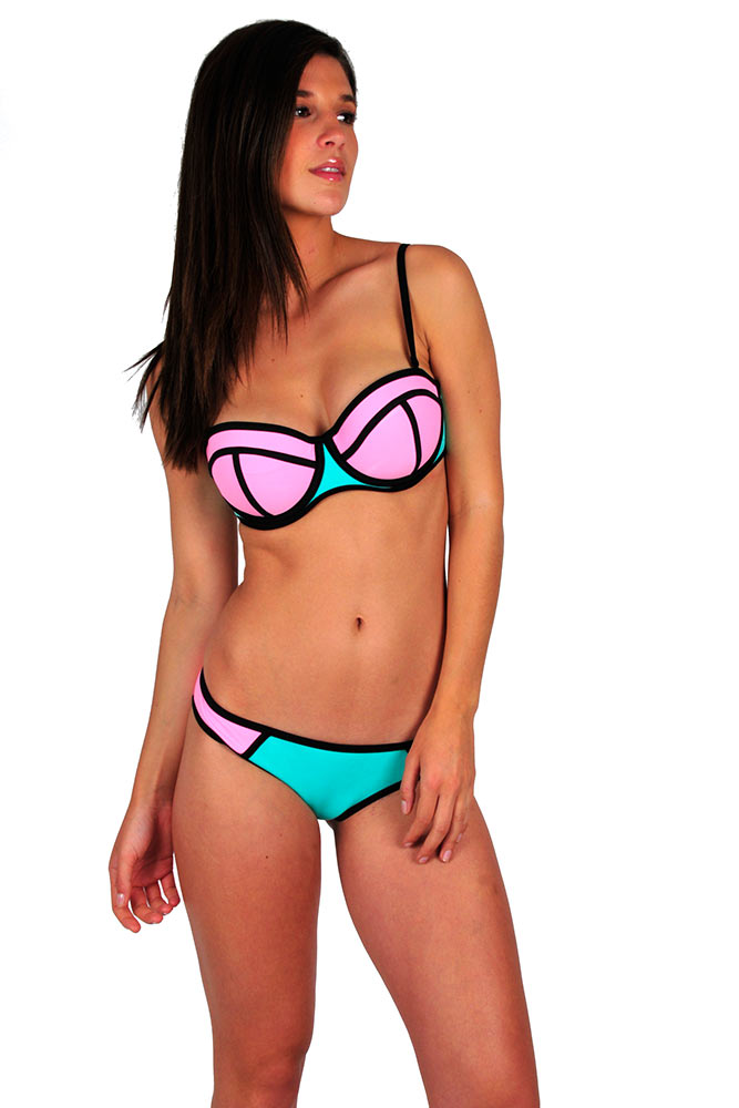 triangel-bikini-oberteil-neopren-rosa-türkis
